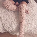 Romantic lacy overknee socks FREE pattern release! US AND SWEDISH TERMS