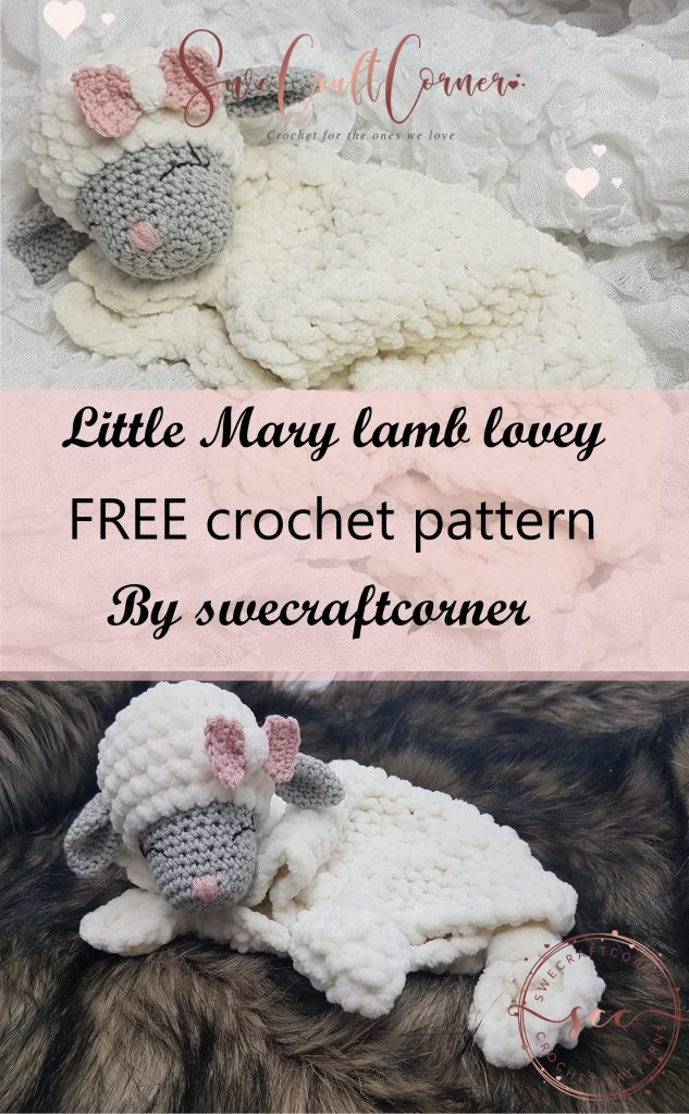 Little Mary Lamb Lovey Free Crochet Pattern Swecraftcorner