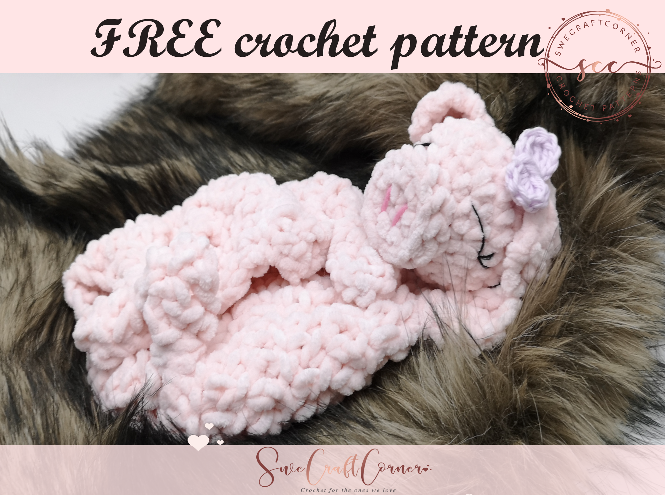 Sweet piggy lovey FREE pattern – FREE pdf download week 4