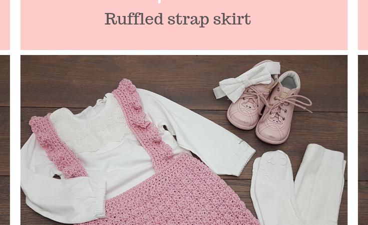 Rose ruffled strap skirt FREE crochet pattern