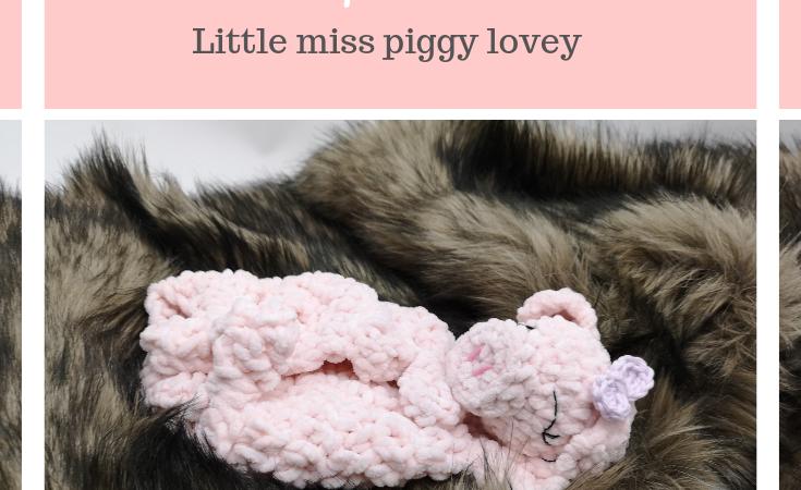 Sweet piggy lovey – FREE pattern