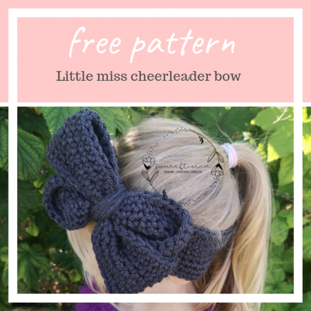 Free bow earmwarmer pattern – written and video tutorial
