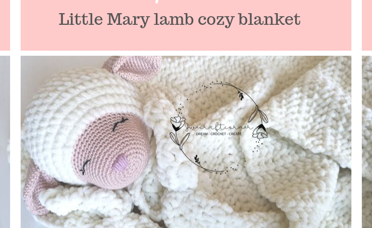 Little mary lamb – cozy blanket – FREE crochet pattern