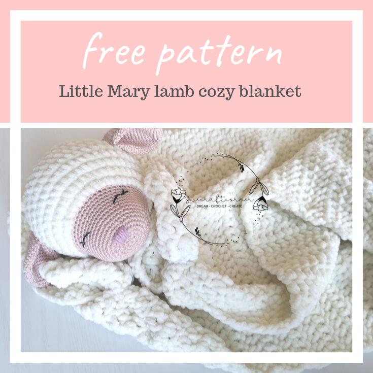 Little mary lamb – cozy blanket – FREE crochet pattern