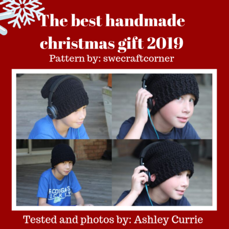 Crochet christmas gift for boys / young adults / men – Feel the beat beanie