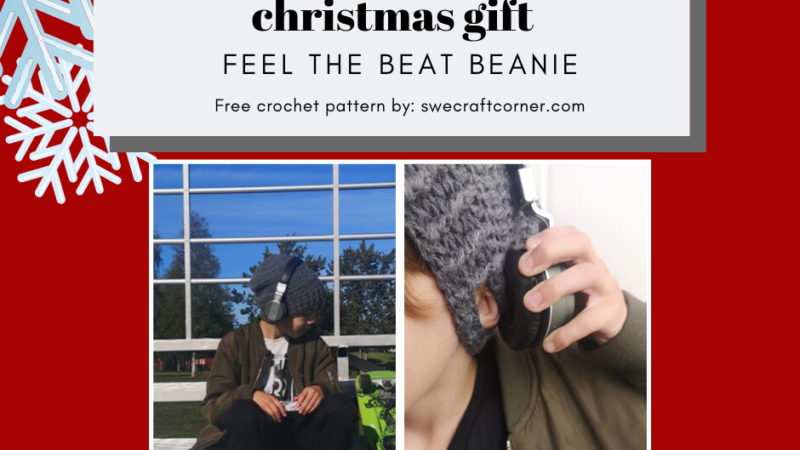 Feel the beat beanie – FREE crochet pattern