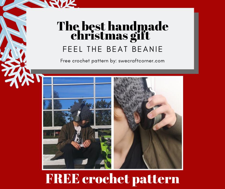 Feel the beat beanie – FREE crochet pattern